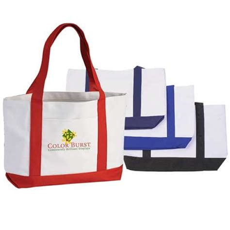 Tote Bag Importtas Import 103 promotional importer two tone poly boat tote bag customized importer two tone poly boat tote