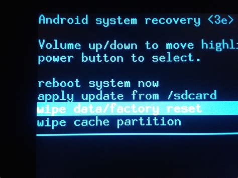 recovery for android factory reset galaxy tab 10 1 foo