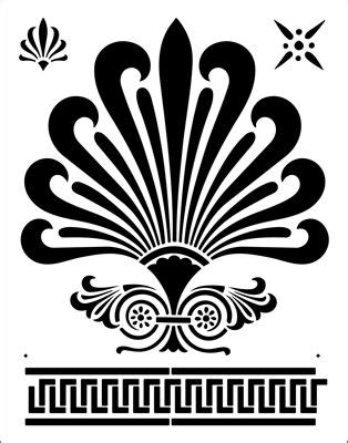 greek motifs greek fan motif silhouettes stencils templates