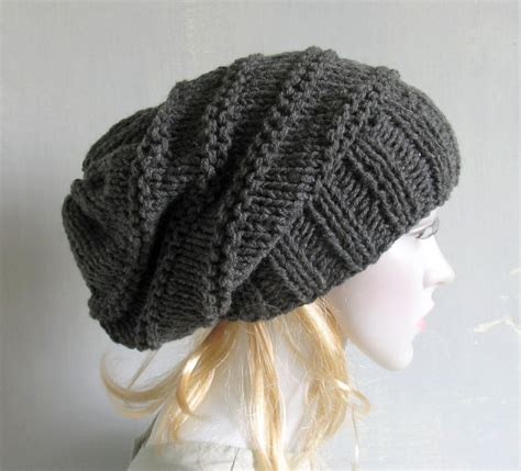 slouchy cable knit beanie knit cable hat knitting slouchy beanie large for