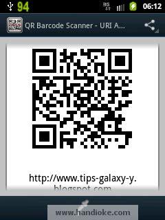 membuat qr code android tips dan trik samsung galaxy y young membuat qr code