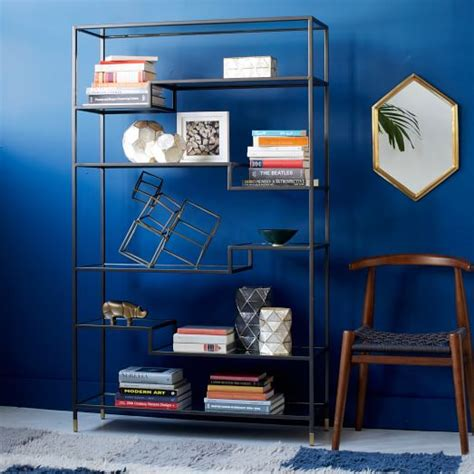 tower bookshelves tiered tower bookcase west elm