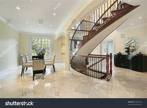 foyer open to dining room foyer with open dining room area stock photo 43891294
