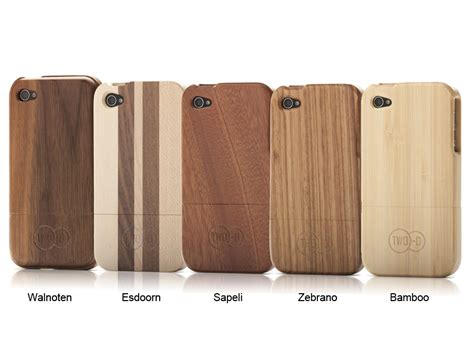 Wood Apple Iphone 4 4s 2 two o real wood hoesje voor iphone 4 4s