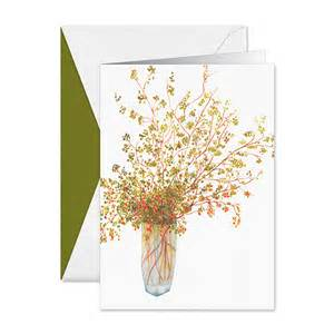 pepperberries in vase boxed greeting cards