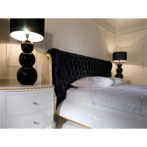 Black Velvet Headboard Venezia King Size Black Velvet Diamante And Gold Leaf Headboard