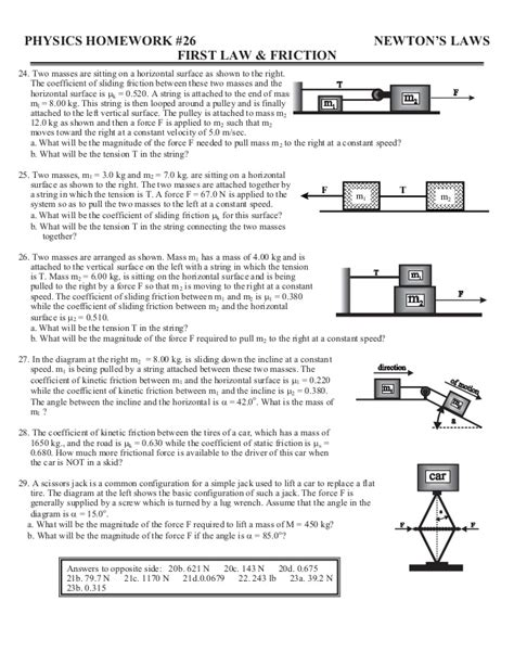 Friction Worksheet by 40561671 Home Worksheets Review