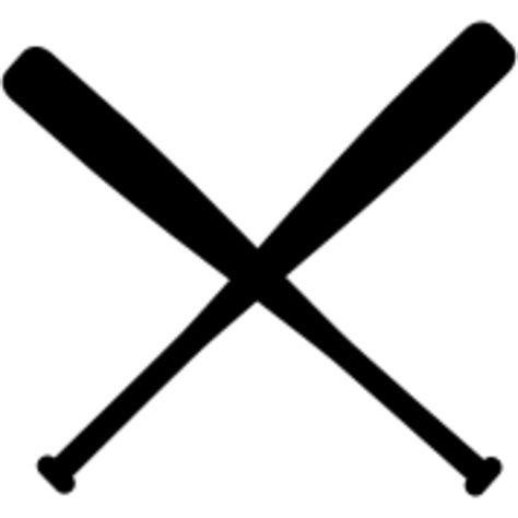 Baseball Bats Crossed Clipart baseball bat crossed free images at clker vector clip royalty free