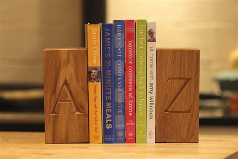 personalised wooden bookends makemesomethingspecial