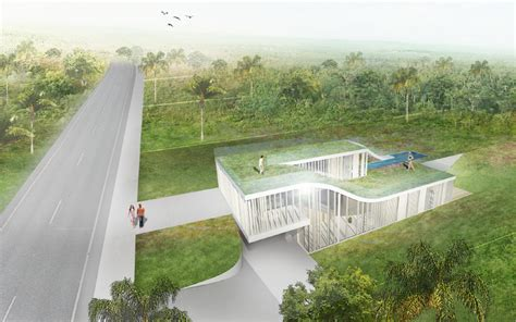 modern house design sloping site garden loop concept