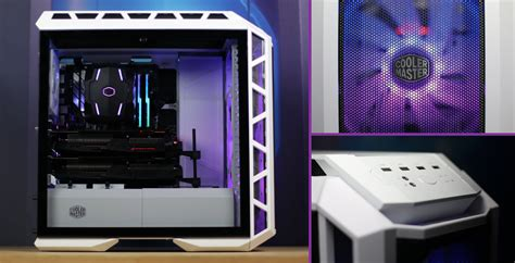 gabinete h500m mastercase h500p mesh white cooler master