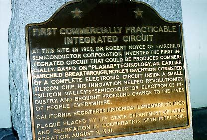 commercially practicable integrated circuit landmark 1000 site of the invention of the commercially practicable integrated circuit