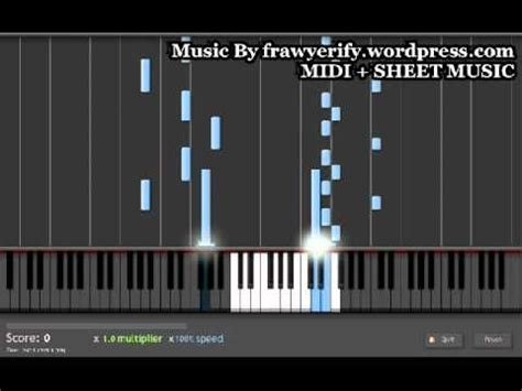 cartoon themes midi cartoon frawyerify piano