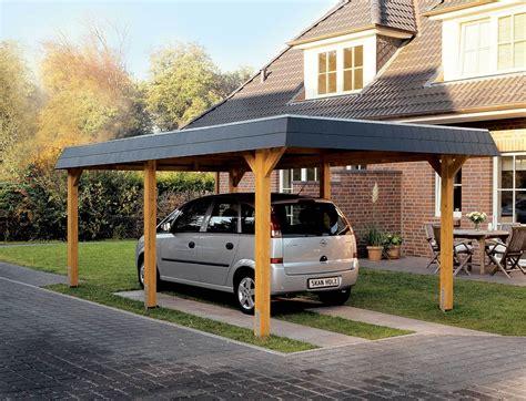 Carport Holz by Hipped Roof Single Carport Glulam Garden House Wood Shop