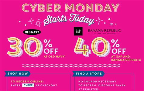 old navy coupons cyber monday cyber monday gap old navy and banana republic up to 40