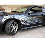 Automotive Art &amp Design Airbrush On Mustang Car  Modification