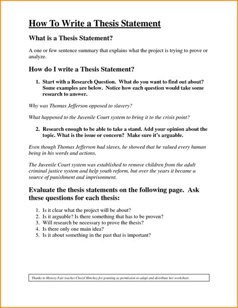 how to write a thesis statement exle 275630 png