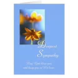 christian deepest sympathy flower card zazzle