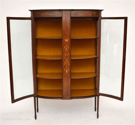 Antique Inlaid Display Cabinet Antique Inlaid Mahogany Bow Front Display Cabinet