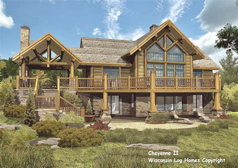 Log Home Floor Plans Wisconsin Homes Inc House Plans 33333