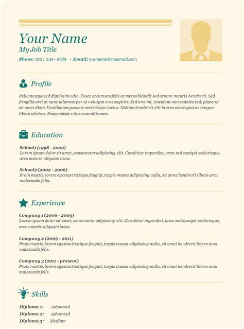 Basic Resumes by 70 Basic Resume Templates Pdf Doc Psd Free