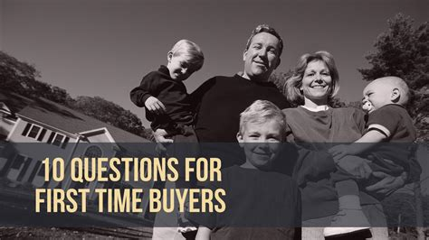 Time Home Buyer Common Questions The by 10 Questions For Time Buyers Glm Mortgage