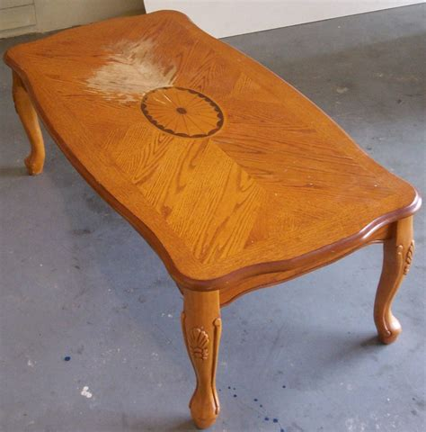 How To Refinish A Coffee Table And Remove A Bad Water Stain How To Refinish A Coffee Table Top