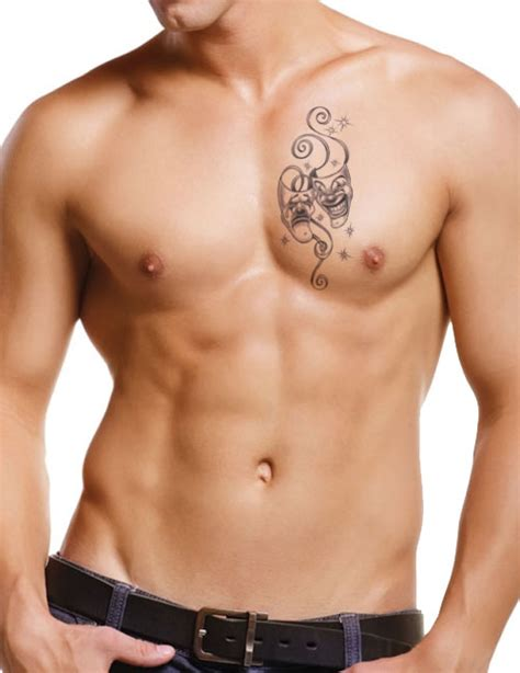 best tattoo locations for men clown mask for mens chest free design ideas