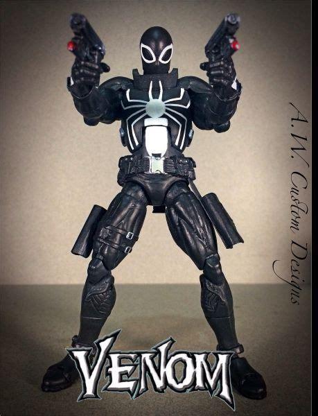 s thompson figure venom flash thompson marvel legends custom