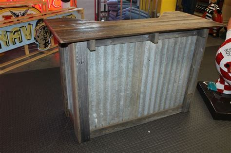 Used Kitchen Islands For Sale rustic dry bar stand w corrugated metal and wood ebay