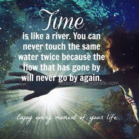 Like A River time is like a river you can never touch the same water