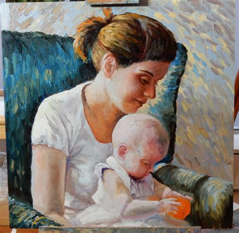 painting for child speed painting portrait of with baby