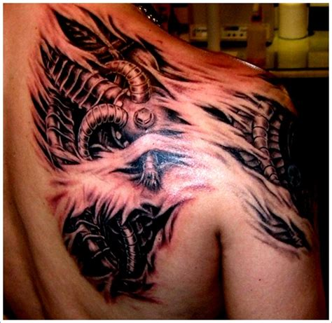35 bio mechanical tattoo designs