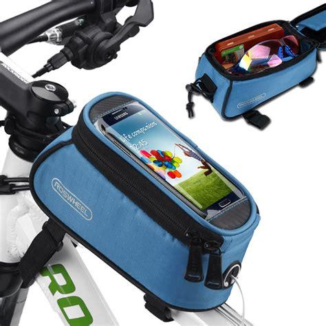 Roswheel Waterproof Bag Holder Sepeda Untuk Smartphone 6 Inch roswheel bicycle cycling bike frame front waterproof cell mobile phone bag