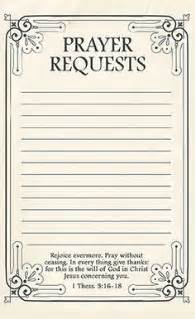 prayer card template free printable prayer request forms printable prayers