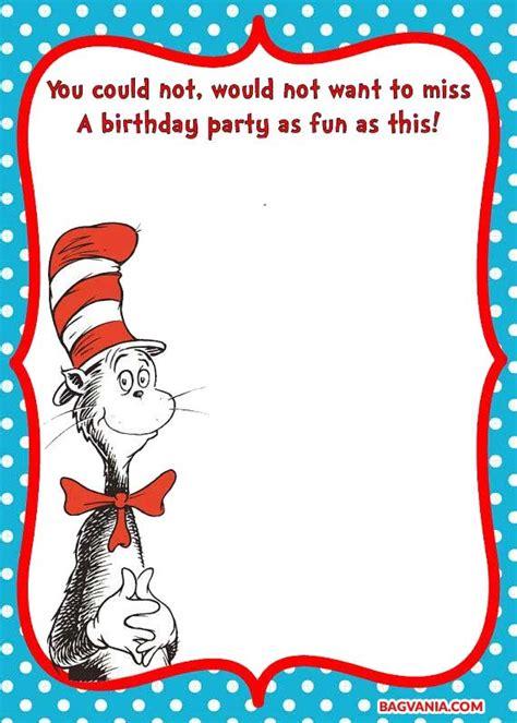 printable dr seuss birthday invitations