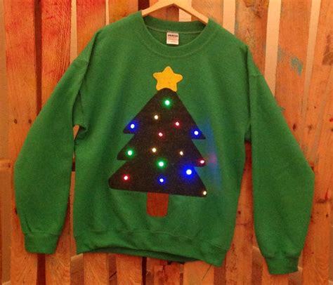 festive blinking light sweaters holiday light up sweater