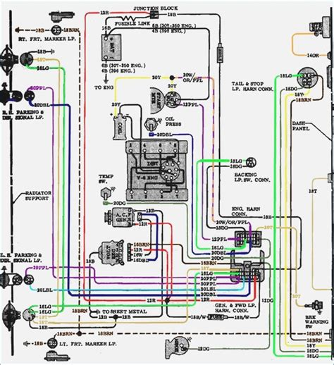 engine wiring diagram 1970 chevy 307 wiring diagram with