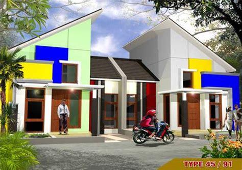 desain rumah yang unik desain rumah type 45 kopel minimalis modern