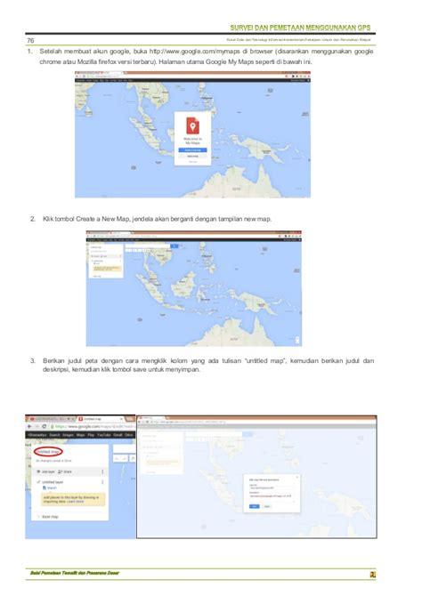 Membuat Akun Google Maps | modul gis qgis diklat gps dan gis bpsdm kementerian pupr