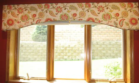 Fabric Covered Cornice Board window fashions happy fabric on a shaped cornice board