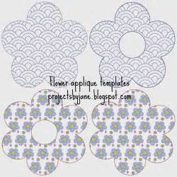 Applique Templates by Free Flower Applique Templates Projects By