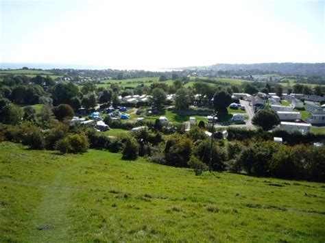 Ulwell Cottage Caravan Park Prices by View Of Site From Hill Leading Up To Nine Barrow