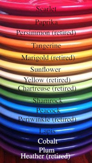 fiestaware color chart 246 best images about i fiestaware on