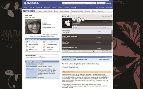 Myspace Pages Of And by Myspace Attempts To Rebrand And Return To Prominence The