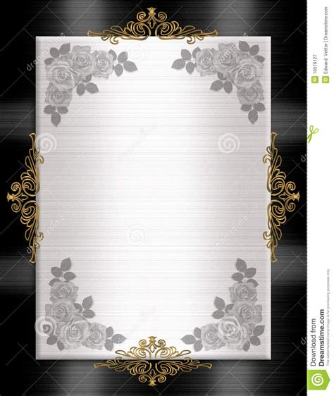 Blank Invitation Cards Templates Black And White by 35 Blank Black And White Wedding Invitation Templates