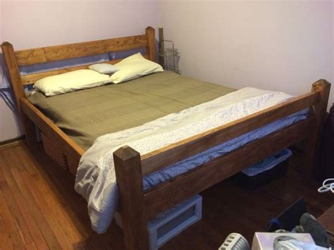 painting a pine bed frame diy size platform bed frame from 2x6 2x4 pine and