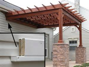 Attaching A Pergola To A House by Wooden Pergolas Pressure Treated Pine Pergolas By