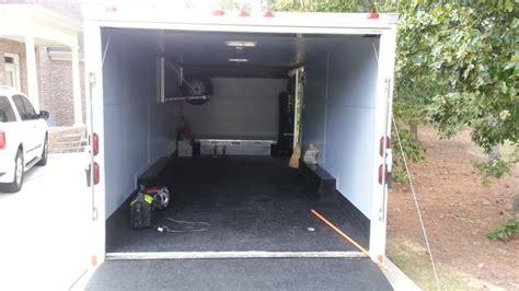 Enclosed Cing Hammock Let S See Some Enclosed Trailer Interiors Corvetteforum