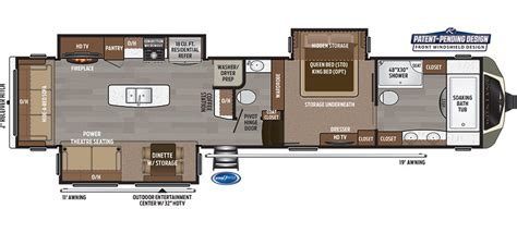5th wheel trailer floor plans montana 5th wheel floor plans 2016 thecarpets co